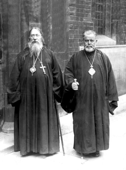 Le métropolite Euloge avec le métropolite Germanos de Thyatire, exarque du Patriarcat œcuménique en Europe occidentale et centrale, 1932.